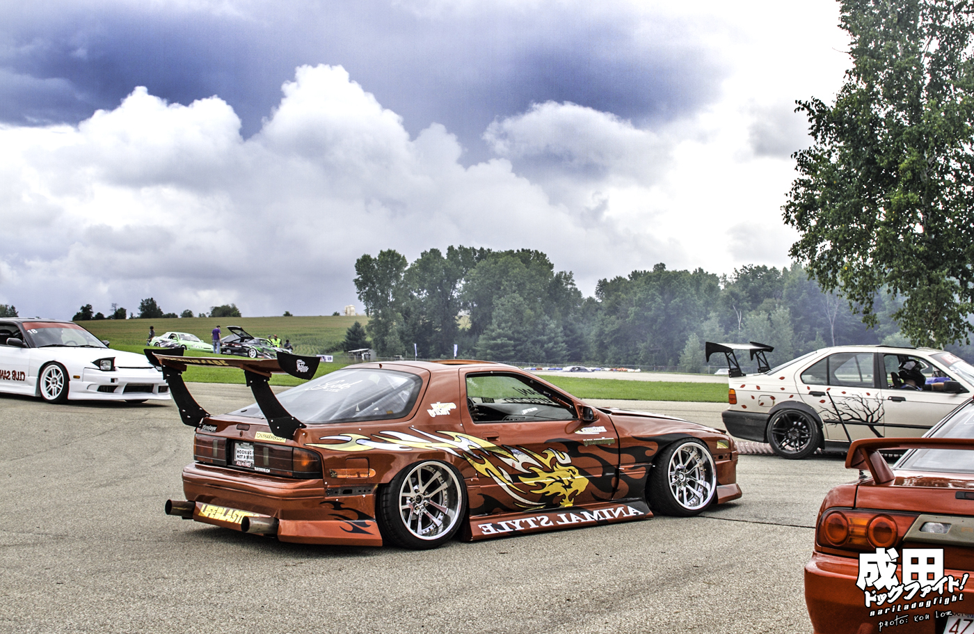 Drift team animal style 2014 parking lot fun - 1 5